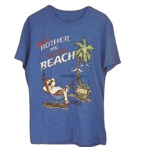 Disney Store Grumpy T-Shirt Blue Don't Bother Me L